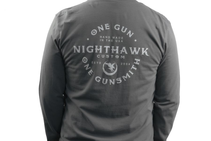 One Gun, One Gunsmith, Long Sleeve, Charcoal Gray