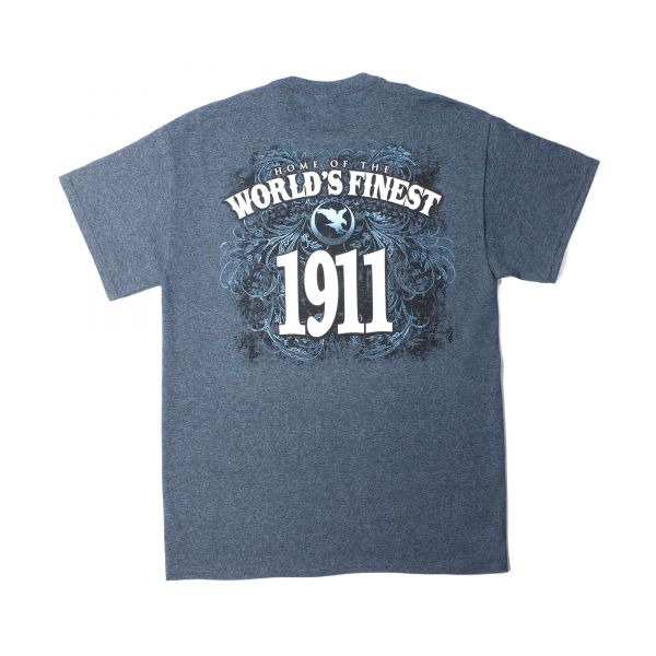 Home of the World's Finest 1911, Small T-Shirt, Heather Smoke Gray