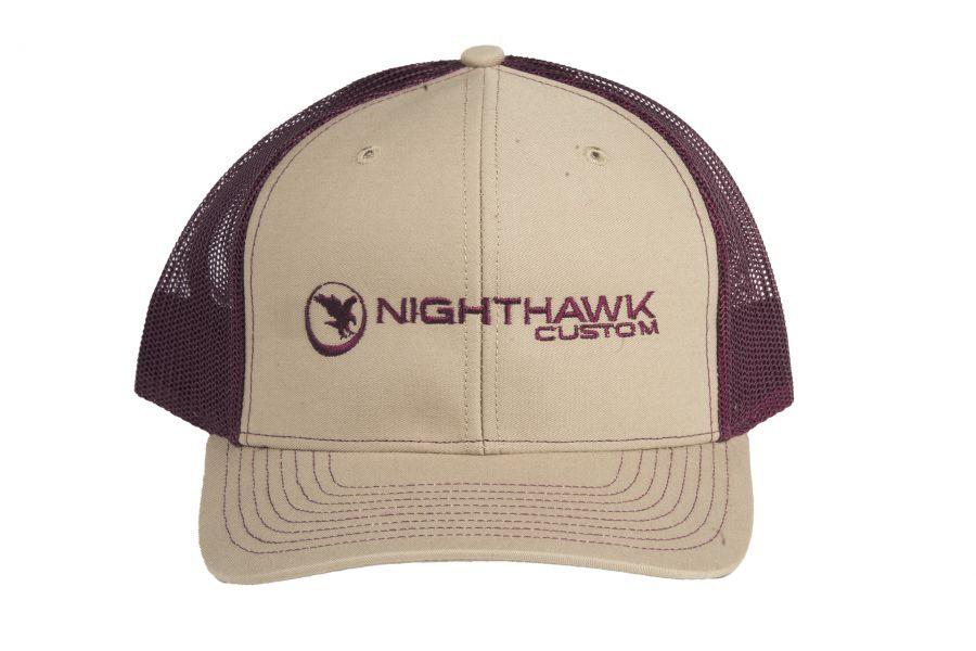 Nighthawk Khaki & Burgundy Cap