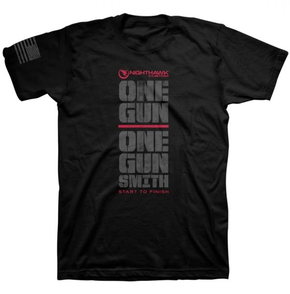 One Gun, One Gunsmith, T-Shirt, Black