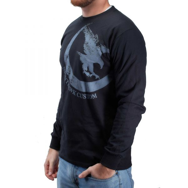Nighthawk Offset Logo, Long Sleeve, Black