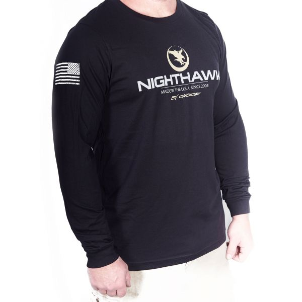 Nighthawk By Choice Logo, Long Sleeve, Black