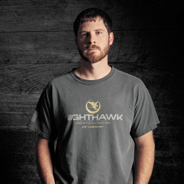 Nighthawk By Choice Logo, T-Shirt, Graphite