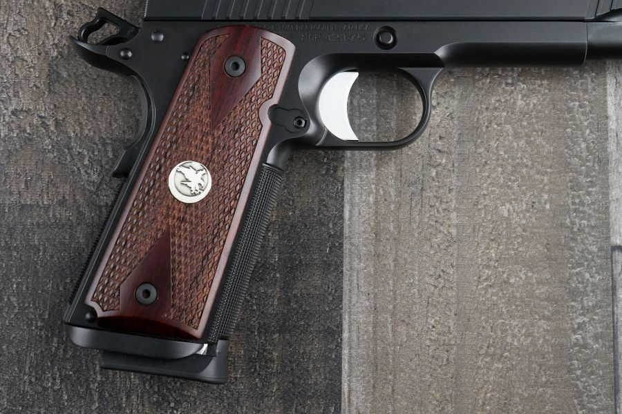 1911 Grips, Double Diamond with medallion, Cocobolo, Government/Commander