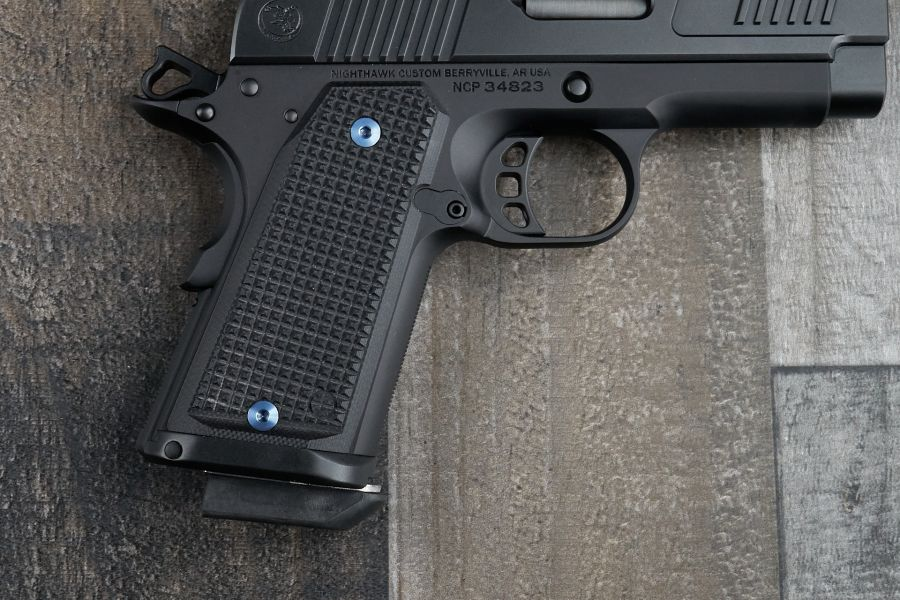 1911 Grips, Thin, Black Checkered, Counselor