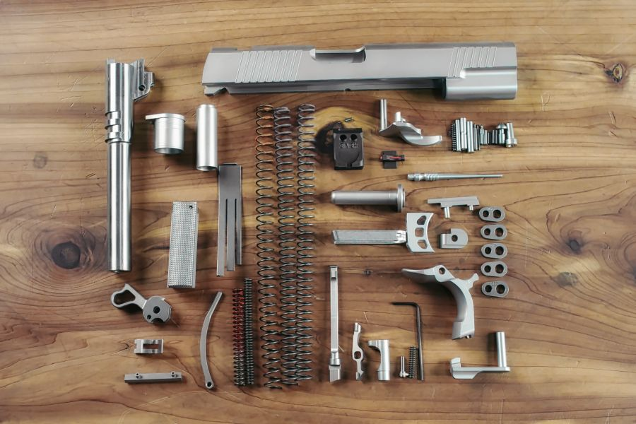 Complete 1911 Parts Kit, 9mm, Government