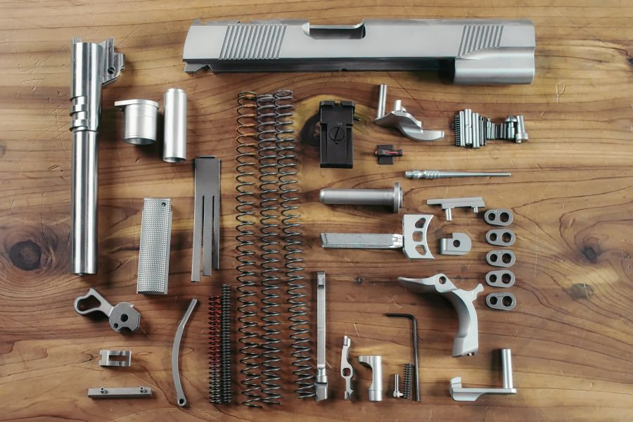 Complete 1911 Parts Kit, 10mm, Government