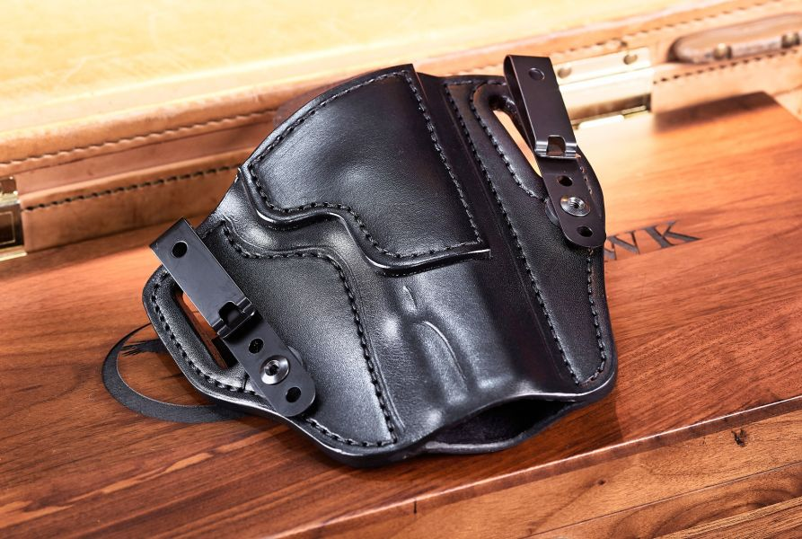 Holster, Cowhide With Cowhide Trim, Black, Unlined, Government