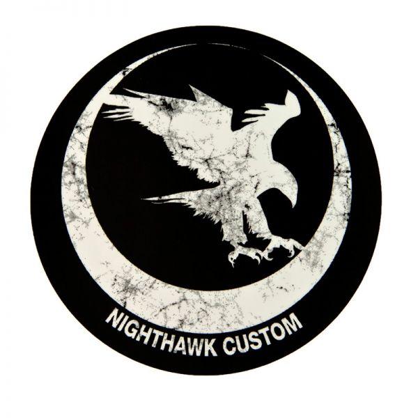 Nighthawk Custom Sticker Distressed Logo