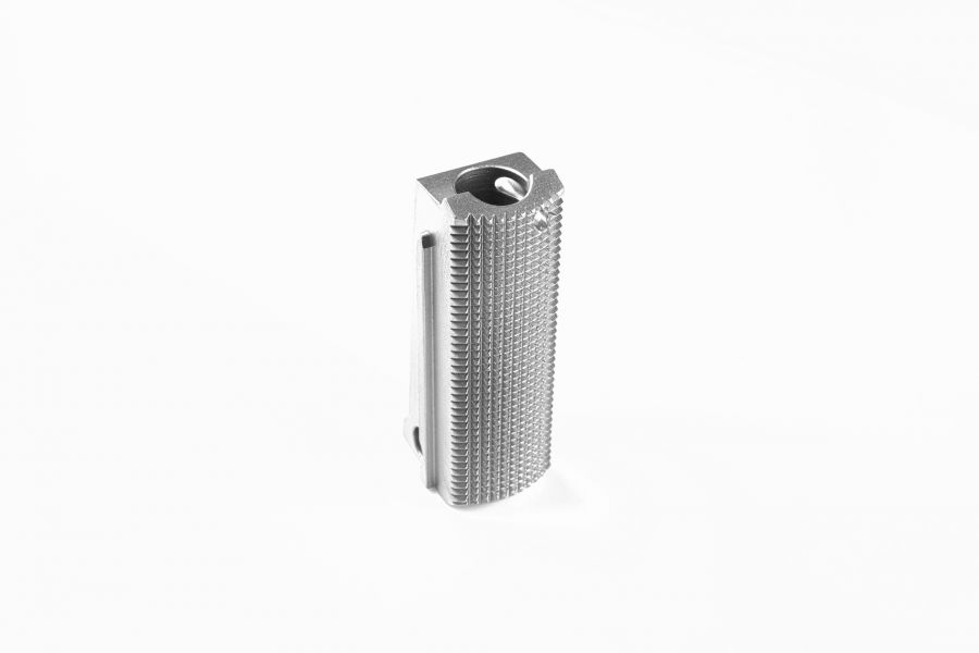 Drop-In Mainspring Housing, Officer, 25 LPI Checkering, Stainless
