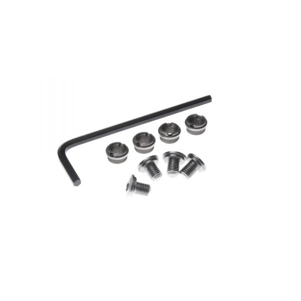 Thin Hex Head 1911 Grip Screws and Bushings, Stainless