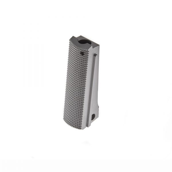 1911 Mainspring Housing, Government, Flat, Checkered, Stainless