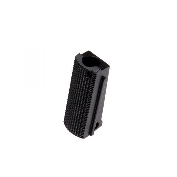1911 Mainspring Housing, Officer, Flat, Checkered, Carbon