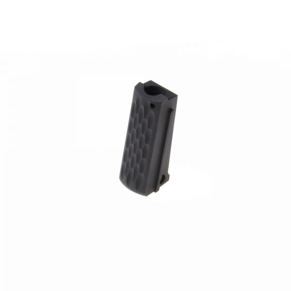 1911 Mainspring Housing, Officer, Flat, Scalloped, Carbon