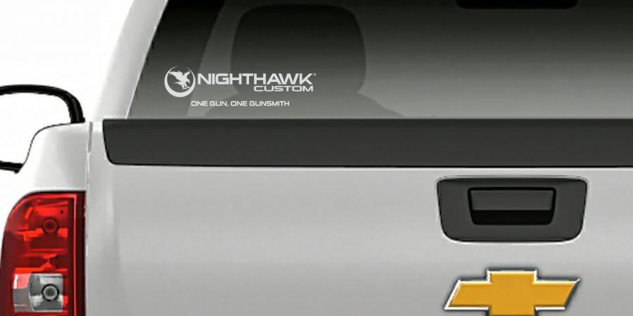 Nighthawk Custom® One Gun. One Gunsmith.™ Decal