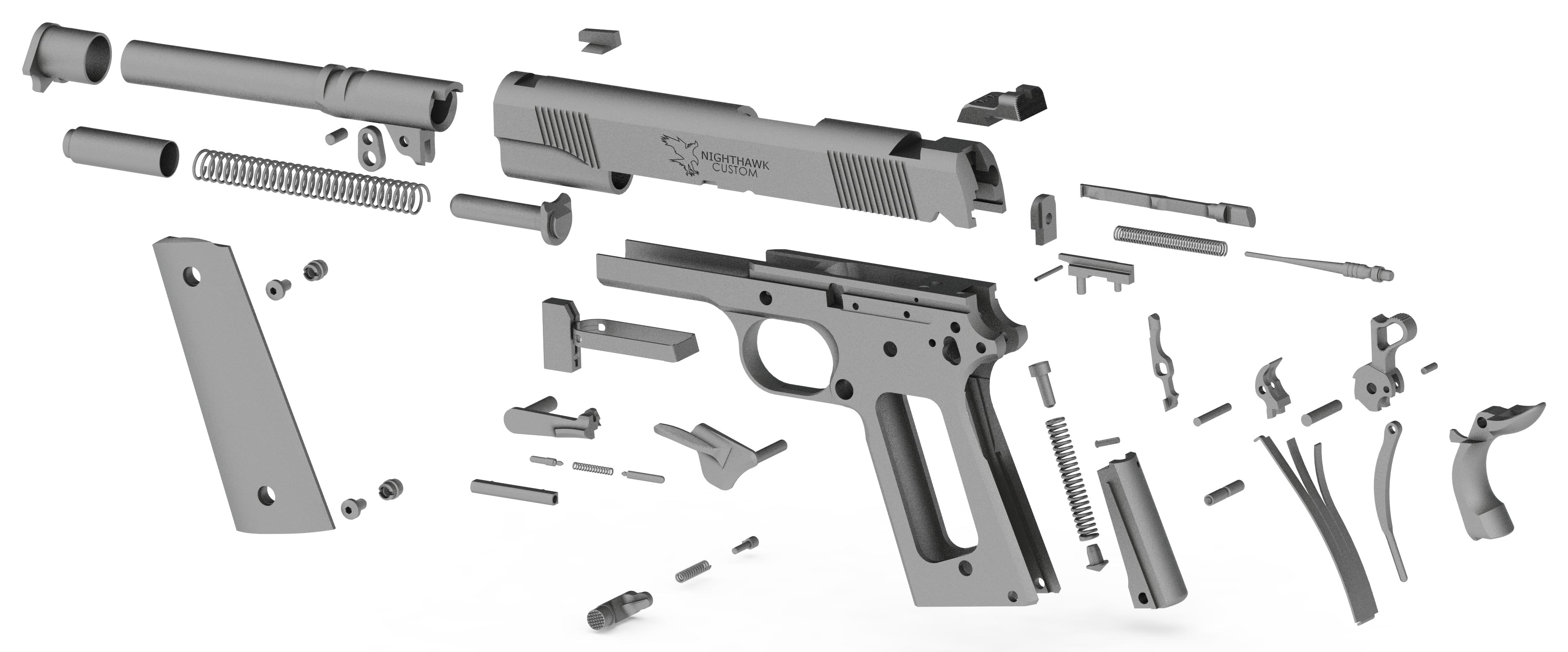 Nighthawk Custom 1911 Exploded View
