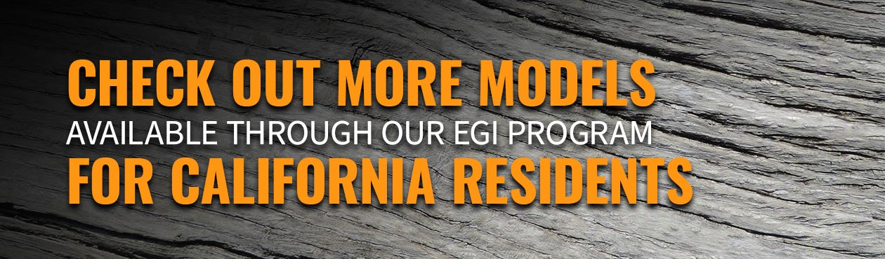 Check out more models available through our EGI Program for California residents