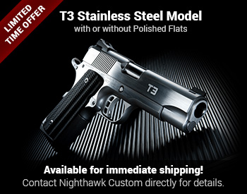 T3 Stainless Steel Model with or without Polished Flats